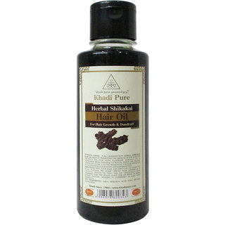 Khadi Pure Herbal Shikakai Hair Oil - 210ml