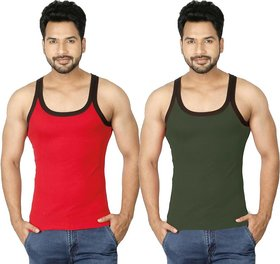 Assorted Color Men's Gym Vest (Pack Of 2)