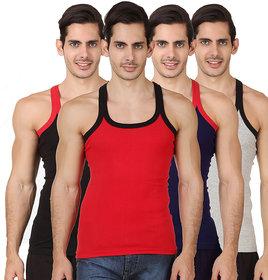 Assorted Color Men's Gym Vest (Pack Of 4)