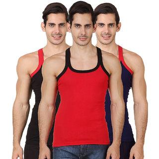 Assorted Color Men's Gym Vest (Pack Of 3)