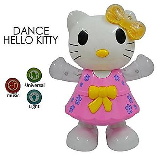 HELLO KITTY - MUSICAL DANCING KIDS TOY with 3D Flashing Lights for  Best Gift Set as Baby Toys