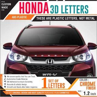 HONDA 3D Letters for Honda Amaze - Chrome Wrapped Letters  Honda Amaze car accessories 3d Letters Chrome logo emblem