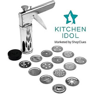 Kitchen Idol Silver Stainless Steel Kitchen Press (15 Pieces)