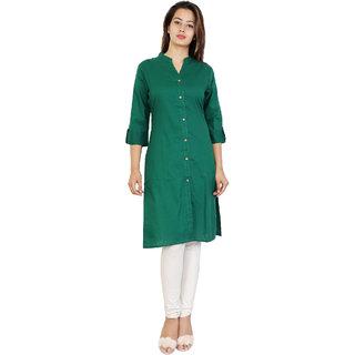 Purvahi Light Green solid color plain kurtis