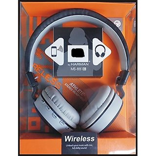 Vinimox Wireless MS-881 Full Dolby Sound Bluetooth Headphone with FM and Micro SD for Laptop, PC, mobile