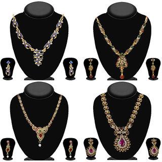 JewelMaze Set Of 4 Necklace Combo-1003558
