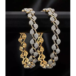Bhagya Lakshmi Women's Pride American Diamond Bangles For Women