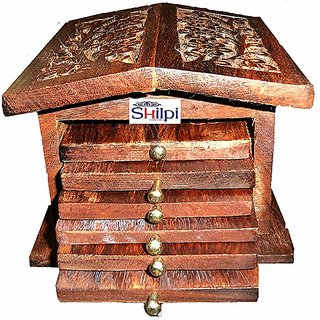 Shilpi Handmade New Stylish Look Sheesham Wood Tea Coaster Set for Table Decor