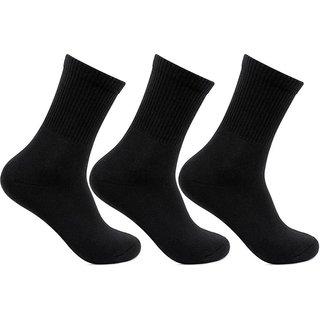 Zeeko Black Quater Length Socks (pack-3)