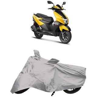 De AutoCare Premium Quality Silver Matty Two Wheeler Scooty Body Cover for TVS NTORQ 125