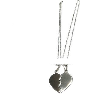 Valentine Day Special Love Heart Two Piece Chain Locket Pendant For Boy And Girl.