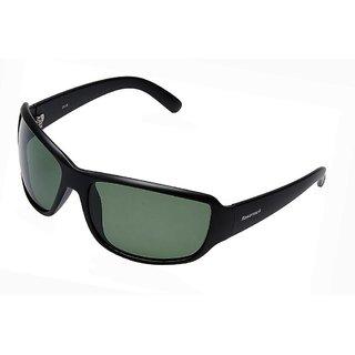 Fastrack P294GR4P Sports Polarized Sunglasses Black / Green