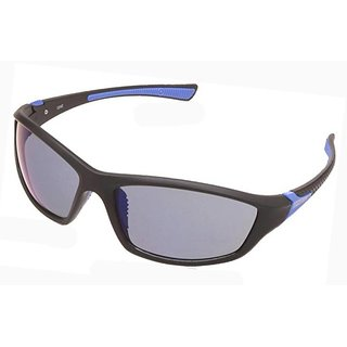 3b0646aaf21d Buy Fastrack P351BU2 Sports Mirrored Sunglasses Black   Blue Online - Get  29% Off