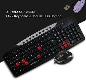 Adcom Combo AM2525 Keyboard PS/2  USB Mouse (Only For C
