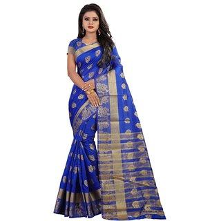 Pemal Designer Women's Cotton  Silk Weaving  Saree With Jecqured Border Running Blouse Pics BBC91