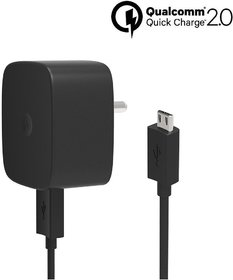 Motorola 1.8A Wall Charger Turbo Charger, Quick Charge 3.0, 15 W
