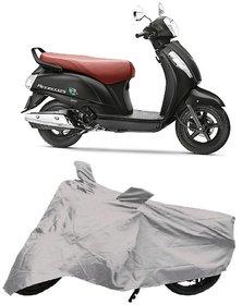 De AutoCare Premium Quality Silver Matty Two Wheeler Scooty Body Cover for Suzuki Access 125 New