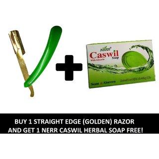 RKD  Shaving Razor / Stainless Steel Straight Razor With Plastic Handle