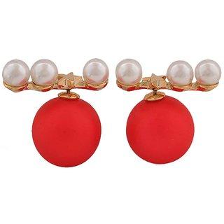 Maayra Two In One Fashion Studs Earrings Red White Ear Dailywear Jewellery Online Get 27 Off