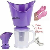 AAbha vaporizer steamer / Facial Sauna, Vaporizer and Nose Steamer (All in One Steam Inhaler) With Household Gloves
