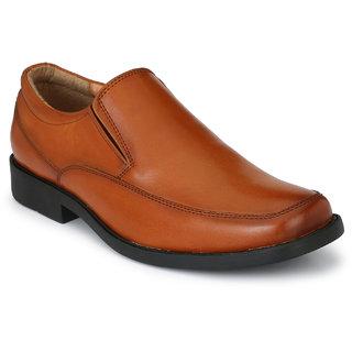 Delize Mens Tan Slip on Moccasin Formal Shoes