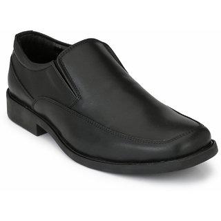 Delize Mens Black Slip on Moccasin Formal Shoes