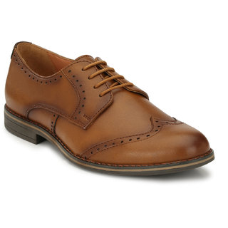 Delize Mens Tan Lace-up Oxfords Party Shoes