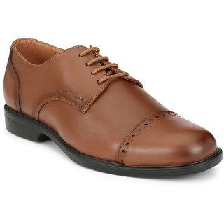 Delize Mens Tan Lace-up Derby Formal Shoes
