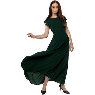 Buy SHT Women Maxi dark Green Dress Online - Get 69% Off c8f1b862c