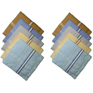 Best Cotton Fabric Multicolor with lining Handkerchief For Men and women 2121 ,Pack of 10 Handkerchief
