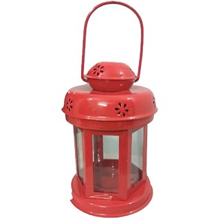 Home Decor Hanging Red Lantern  Antique for Tlight Candle