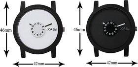 New Lorem Combo White And Black Leather Belt Latest Des