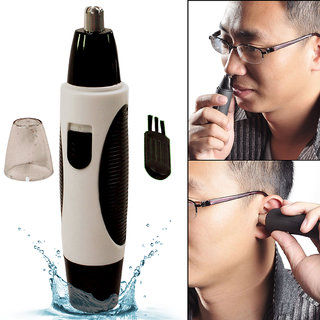 Men's Waterproof Battery Powered Electric Nose Ear Mustache Hair Clipper Trimmer Shaver Hair Cutter Grooming Tool