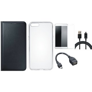 Redmi Y1 Stylish Cover with Silicon Back Cover, Tempered Glass, OTG Cable and USB Cable by Vivacious
