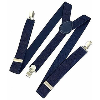 Fashlook Navy Blue Suspenders For men