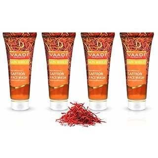VAADI HERBAL SAFFRON SKIN WHITNING FACE WASH with sandal pack of 4