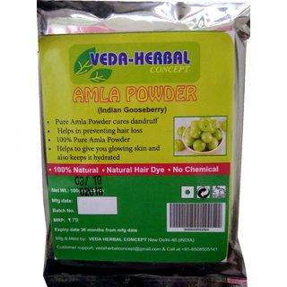 Veda Herbal-Amla Powder for Hair Care (100 natural)-100gm(4pcs offer)