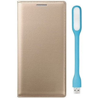 Oppo F3 Premium Quality Leather Cover with USB LED Light by Vivacious