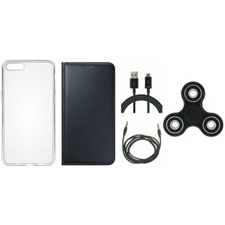 Lenovo K8 Cover with Spinner, Silicon Back Cover, USB Cable and AUX Cable