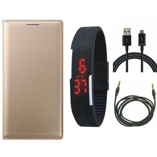 Vivo Y53 Flip Cover with Digital Watch, USB Cable and AUX Cable by Vivacious