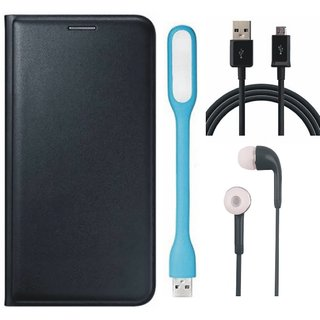 Lenovo K8 Note Leather Flip Cover with Earphones, USB LED Light and USB Cable