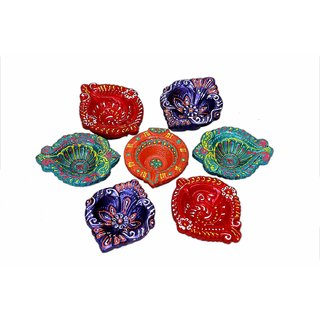 SPL Clay Diya for Ganpati Diwali Puja Festival decoration Set of 10