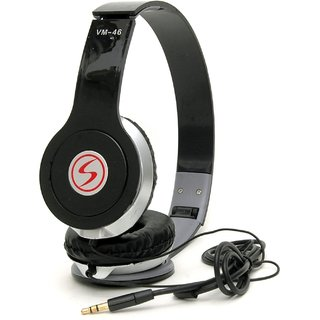 Signature Quality Vm-46 Stereo Bass Solo Headphones For All Other Smartphones (Black)