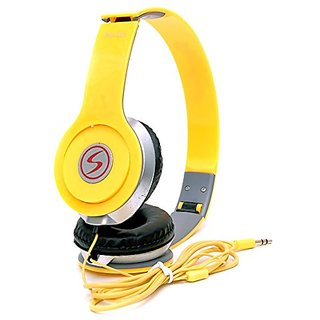 Signature VM-46 Stereo BassSolo Headphones for All Smartphones(Yellow)