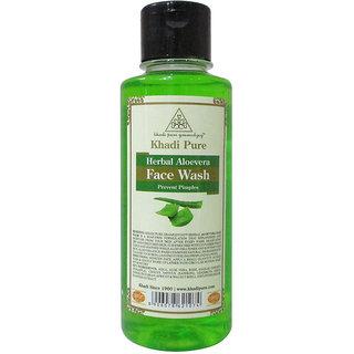 Khadi Pure Herbal Aloevera Face Wash - 210ml