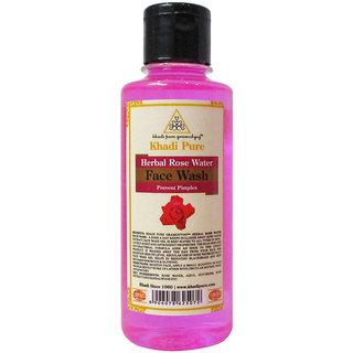 Khadi Pure Herbal Rose Water Face Wash - 210ml
