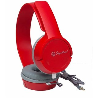 Signature VM-61 Pro High Definition Headphones for All Smartphones (Red)