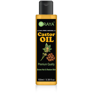 ORAYA Pure Natural Cold Pressed Castor Oil 100 ml For Healthy Hair