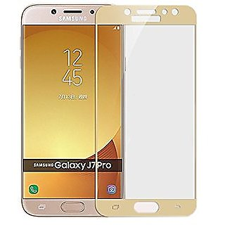 Samsung Galaxy J7 Pro 5D Golden Tempered Glass Standard Quality
