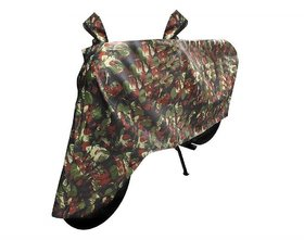 GS  Premium Military Design Bike Body Cover for Mahindra Duro Dz   - (With Side Mirror Pockets)